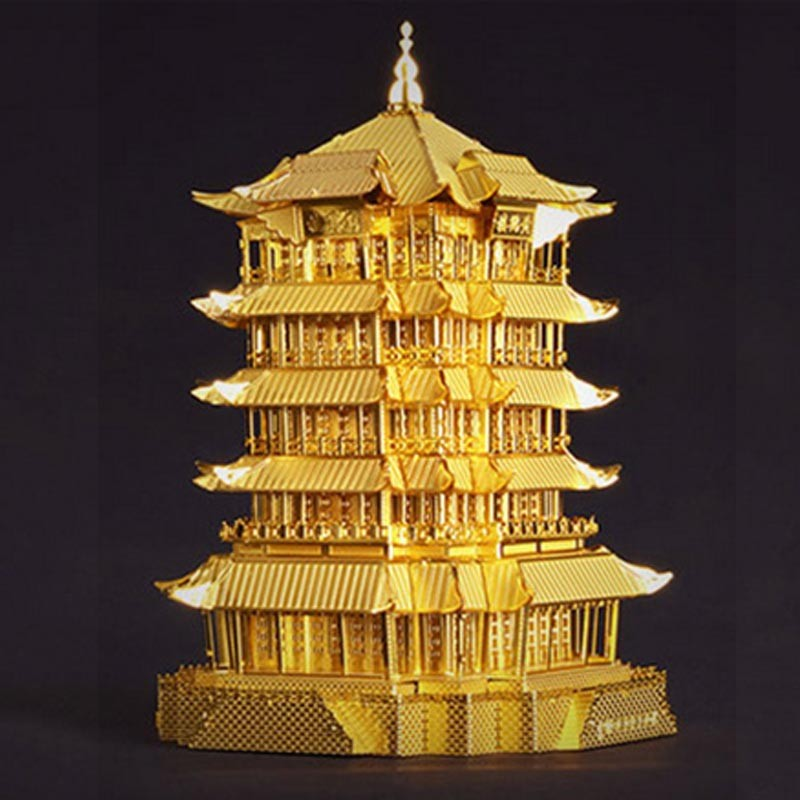 3D-Yellow-Crane-Tower-Metal-Puzzle-Famous-Ancient-Buildings-Kid-DIY-Interesting-Toys-Adults-Manual-Gift-TK0093 (3)