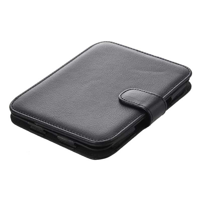 Leather Case voor Barnes And Noble Nook Eenvoudige Touch met GlowLight, Zwart