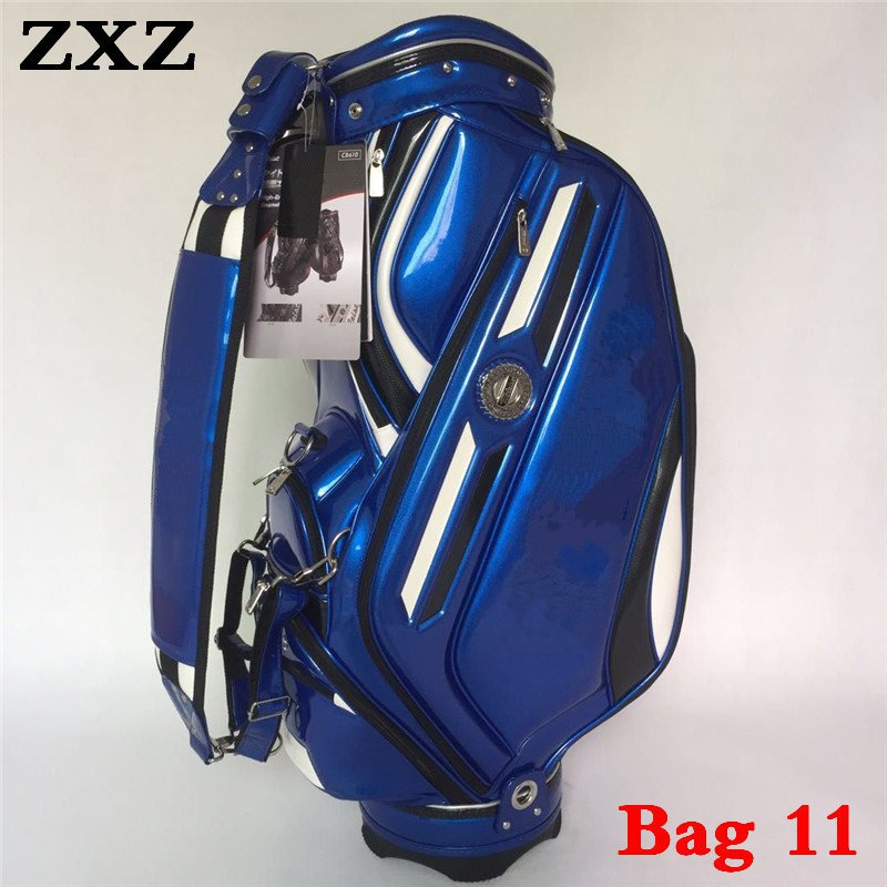 2019 Golf Bag Staff Standard Ball Package Stand Title BLUE black Red Yellow Color Golf Clubs Bag for driver iron Putter Wedge