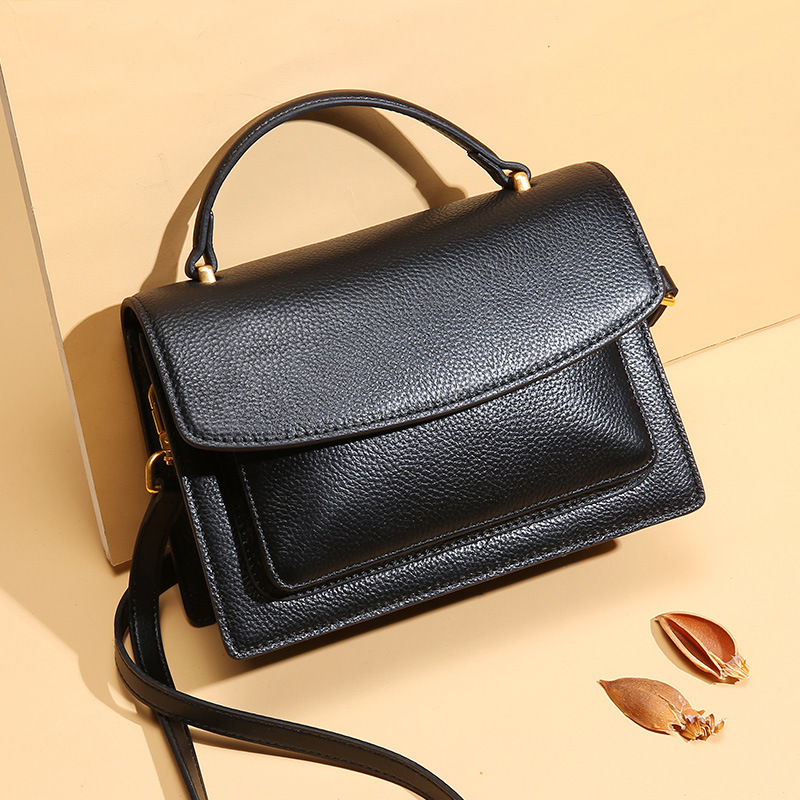 Luxury Genuine Leather Female Flap Bags Single Shoulder Bag For Women Cow Leather Crossbody Bag Lady Messenger Bag