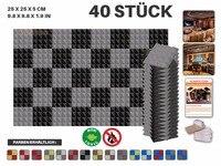 New 40 Pcs Bundle Gray And Black 25 X 25 X 5 Cm 9 8 X