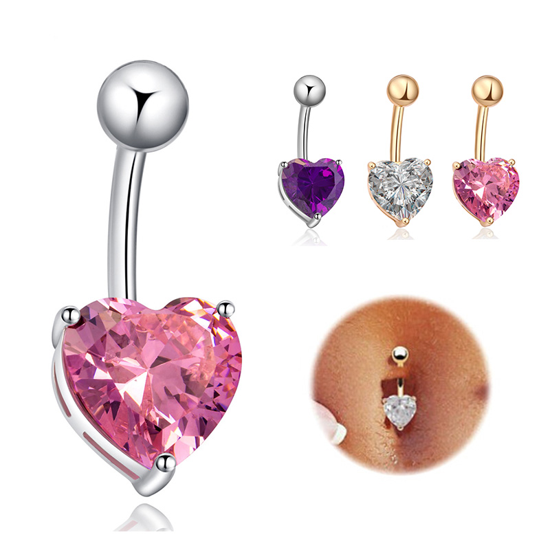 Anti Allergy Belly Button Rings Star Heart Crystal Belly Earrings Nail Titanium Navel Rings dangle Navel Body Piercing Jewelry