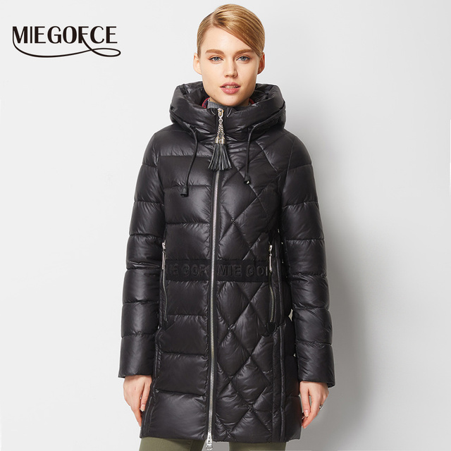 MIEGOFCE 2016 New Winter Collection Winter Women Down Coat Jacket Warm High Quality Woman Down Parka Winter Coat with Hood