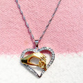 Mother And Child Pendant Gift For Mom Golden Mom Charm Necklace Hand Heart Love Mom Family Twisted Box Chain Cheap Jewelry N266