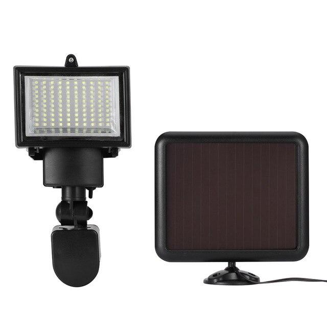 100 led smd 태양 램프 야외 투광 조명 정원 램프 장식 밤 보안 태양 에너지 센서 벽 조명