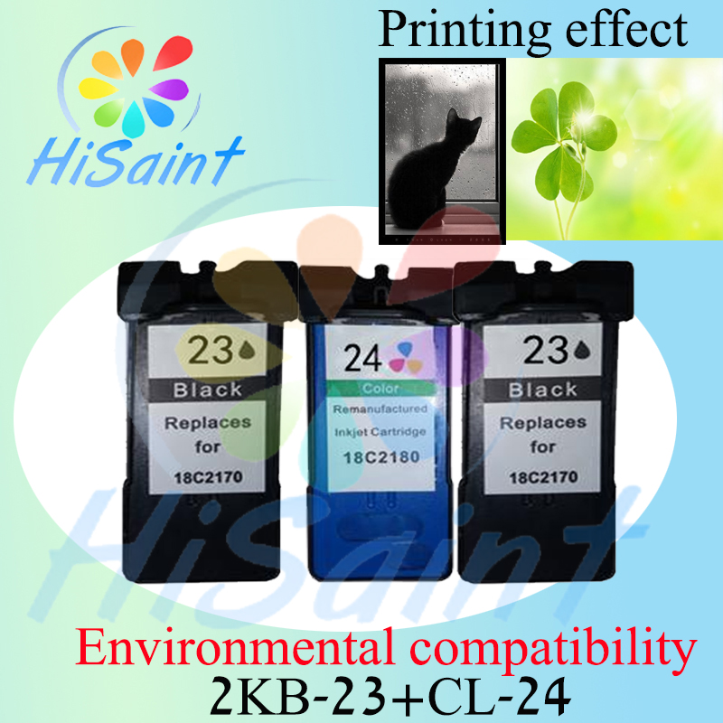 ФОТО Recommend (2BK+1CL) for Lexmark 23 for Lexmark 24 for Lexmark23 24 Compatible with environmental protection Deskjet Z1420