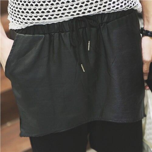 Tissu Costumes Ieu Mode longueur Chanteur Entrejambe Pantalon Culottes Lâche Hommes Occasionnel Grand De Vêtements 2016 D Mâle Genou Capris w1g6qXU