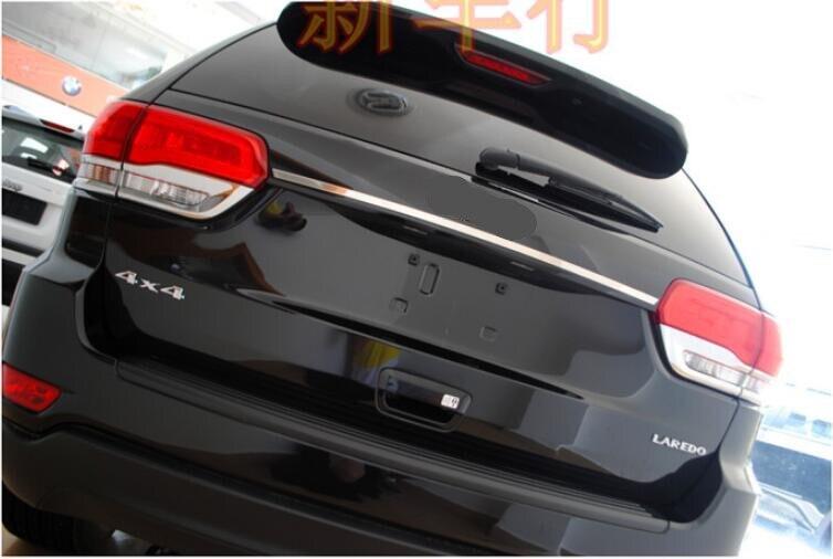 ABS Chrome Arrière Tronc Porte Couvercle Cover Versions Pour JEEP Grand Cherokee 2014 2015 2016 2017 2018