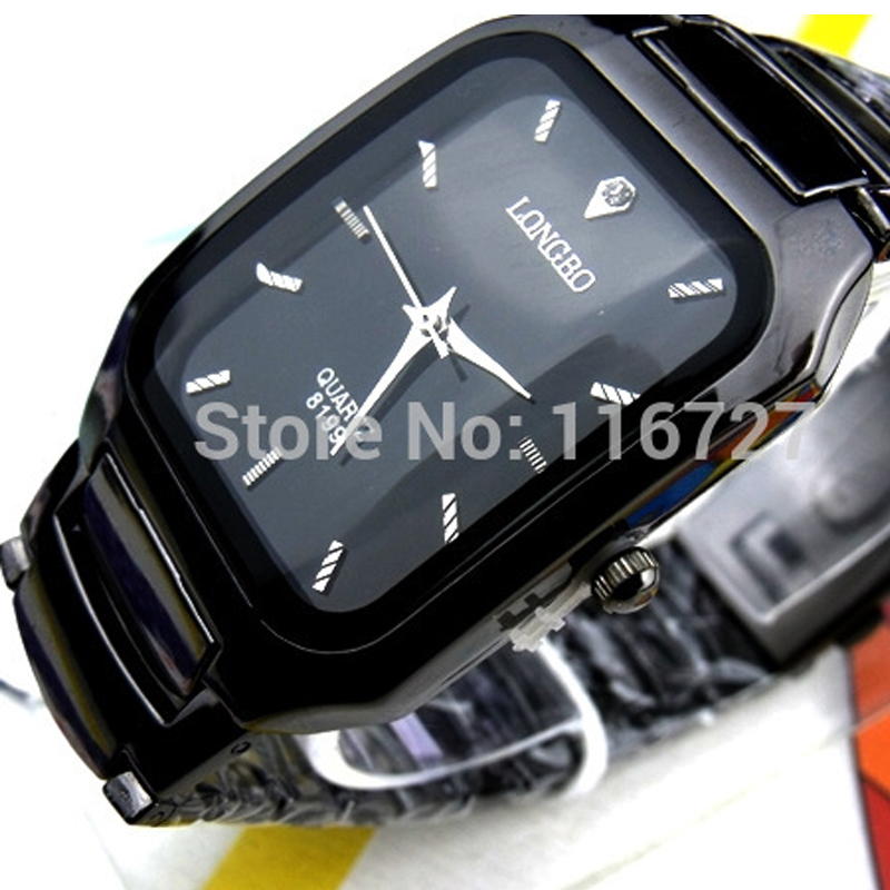 2016 Rectangle LONGBO Japan Quartz Watches Men $ Woman Lover Stainless Steel Band Wristwatch 2035 Movement Wristwatches LG8199