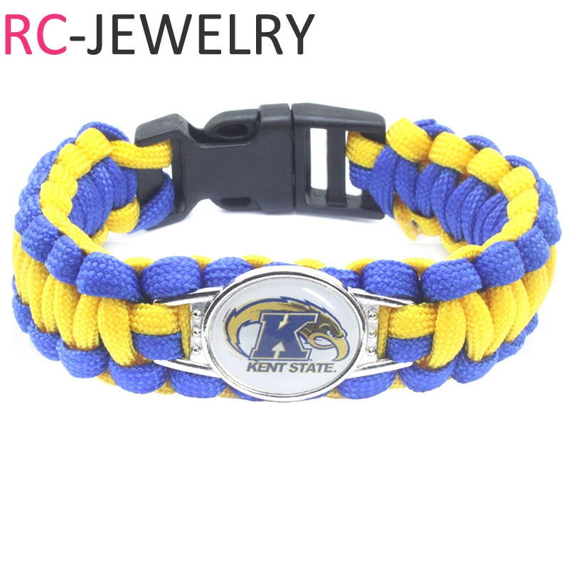 54# NCAA Nevada Wolf Pack Survival Paracord Bracelet for Men for Sports Football Fans Gifts