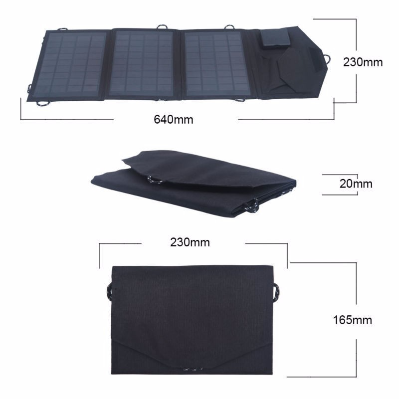 Foldable solar panel portable