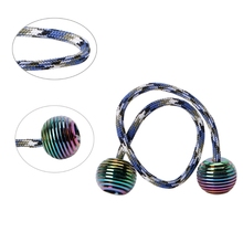 Metal Begleri Fidget Toy Worry Beads Finger Skill Paracord Stress Toy Aluminum Alloy Colorful