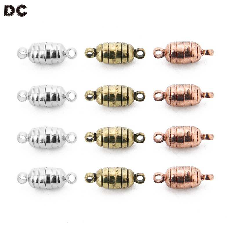 DC 5Pcs/Lot 3 Colors Copper Magnetic Clasp For Diy Jewelry Accessories For Bracelets Personality Connector Clasps Diy Findings