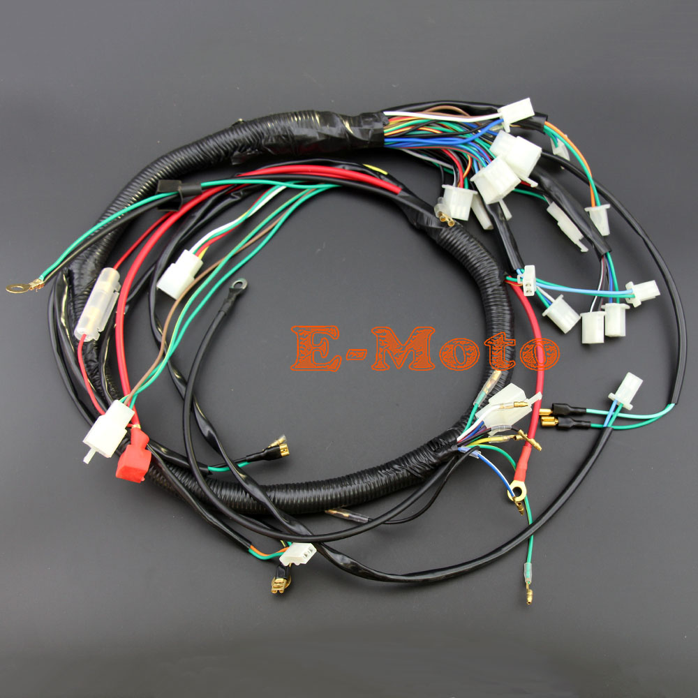 Boxer Go Kart Wiring Harness Diagrams Wakeboard Tower Electric Start Wire Loom 200cc 250cc 300cc Fimco Atv Seeders Gy6