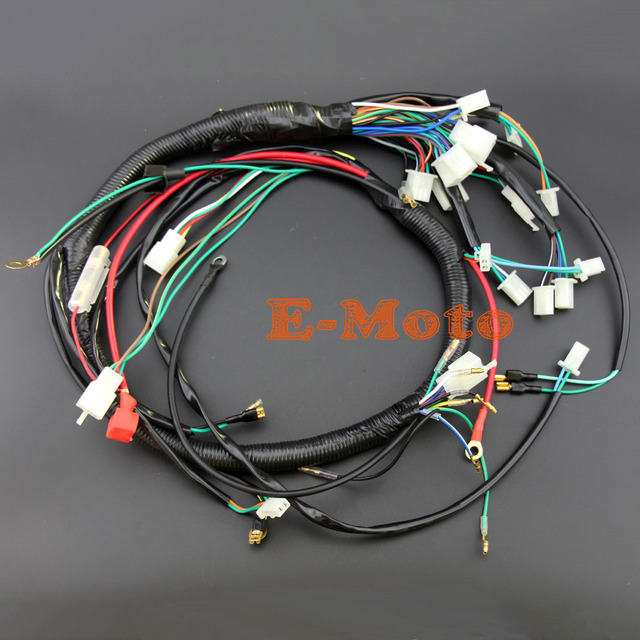 electric start wire loom wiring harness 200cc 250cc 300cc atv quad rh aliexpress com Go Kart Wiring- Diagram helix 150cc go kart wire harness