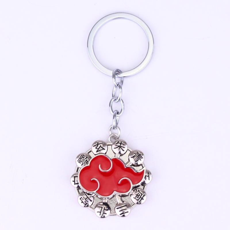 Наруто Хокаге ниндзя брелок Аниме Наруто Secret организации Акацуки членов красный облако логотип поворотный брелок