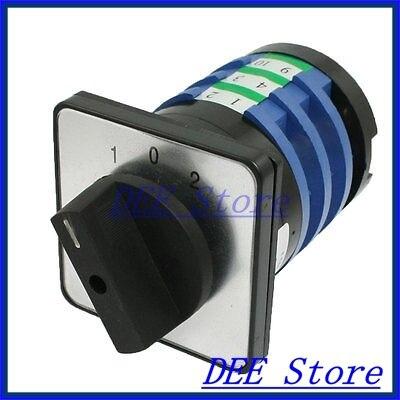 380VAC 32A 1-0-2 Position 12 Screw Terminals Rotary Cam Changeover Switch ui 500v ith 16a 4 position 12 screw terminals rotary changeover switch