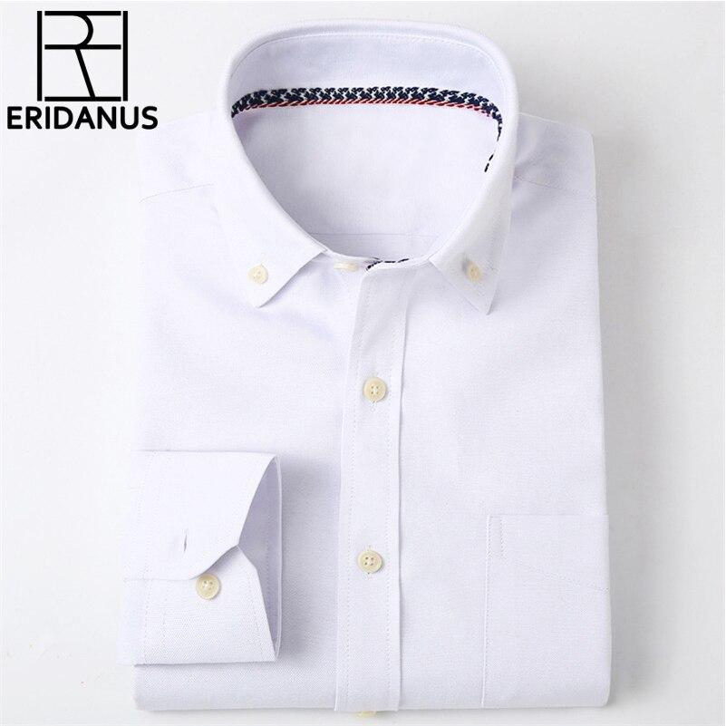 2016 New Fashion Design Casual <font><b>Business</b></font> Men <font><b>Shirt</b></font> Long Sleeve High Quality <font><b>Oxford</b></font> Slim Fit Solid Color Mens Dress <font><b>Shirts</b></font> M016