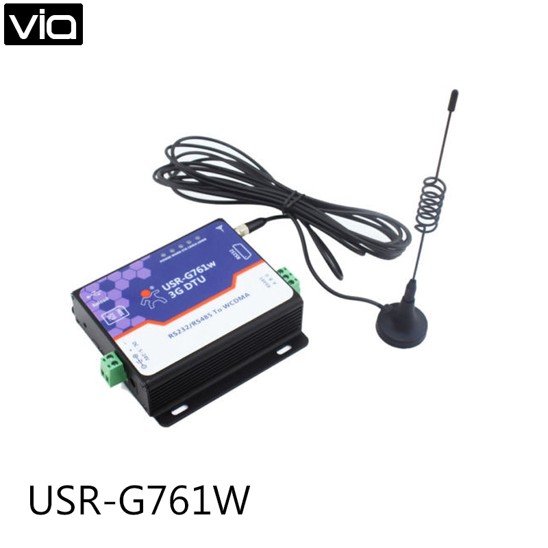 USR-G761w Top Quality New Free Shipping Serial 3G DTU RS232 / RS485 to WCDMA, 3G WCDMA Modem wcdma 3g беспроводной роутер terminal equipment te 3g bar