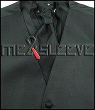 Men's BLACK  Vest and ascot Tie Set for Suit or Tuxedo