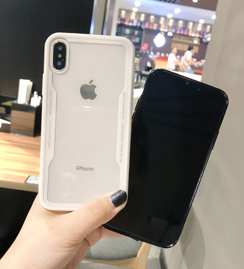 For iPhone 6 6s Plus X XS MAX XR Not Glass Case for iphone 8 7 Plus 5 5S SE Luxury Protective Back Plastic Soft Cover Shockproof