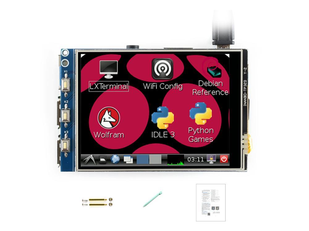 Waveshare 3.2 インチ TFT 、タッチスクリーン Lcd 、 XPT2046 コントローラ 320*240 ピクセルとの任意のリビジョン Raspberrypi  グループ上の パソコン & オフィス からの デモボード の中 1