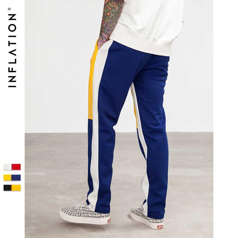 Инфляция 2018 новый хлопок хип-хоп стиль полная длина брюки хип-хоп спортивные брюки для мужчин эластичный пояс мужские s Spiced треники 8404 S
