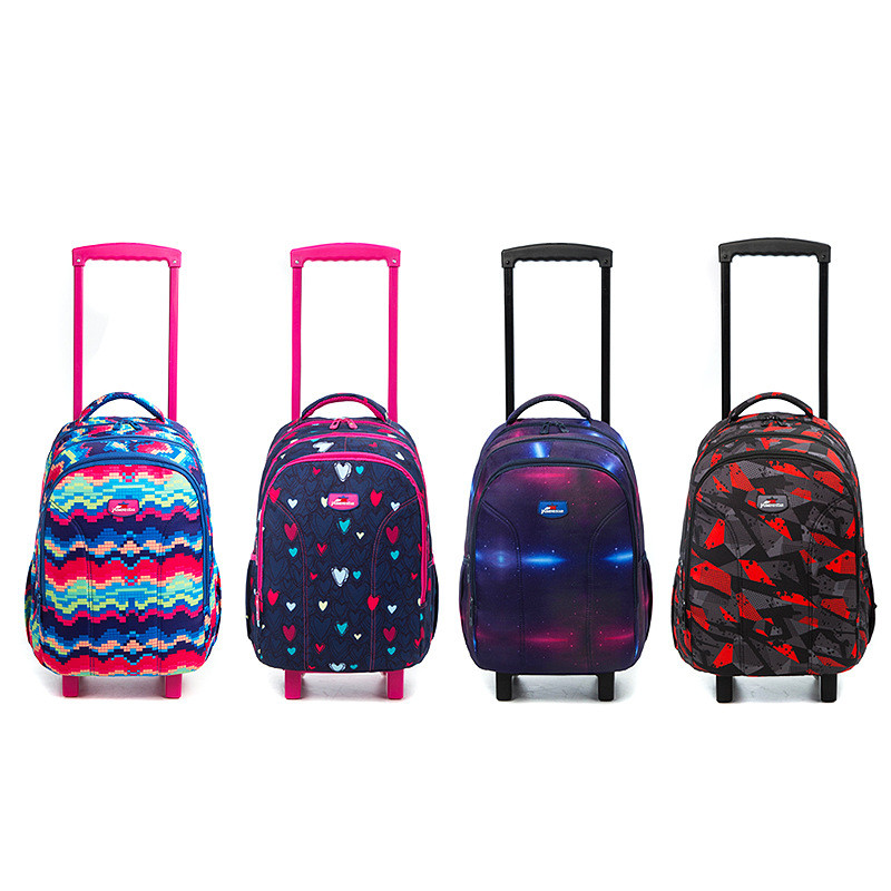 3pcs School Rolling backpack girls backpack On wheels Girl 39 s Trolley School wheeled Backpacks Child Travel Rolling luggage Bag in School Bags from Luggage amp Bags