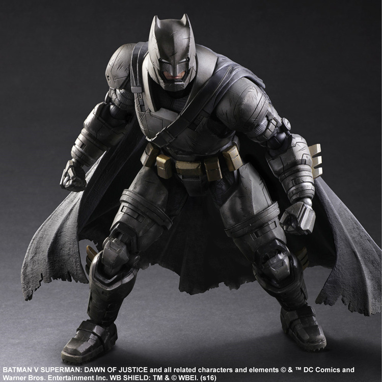 Play Arts KAI Batman v Superman Dawn of Justice NO.3 Armored Batman PVC Action Figure Collectible Model Toy 25cm KT3097 new hot 25cm armor batman v superman dawn of justice enhanced version action figure toys collection christmas gift