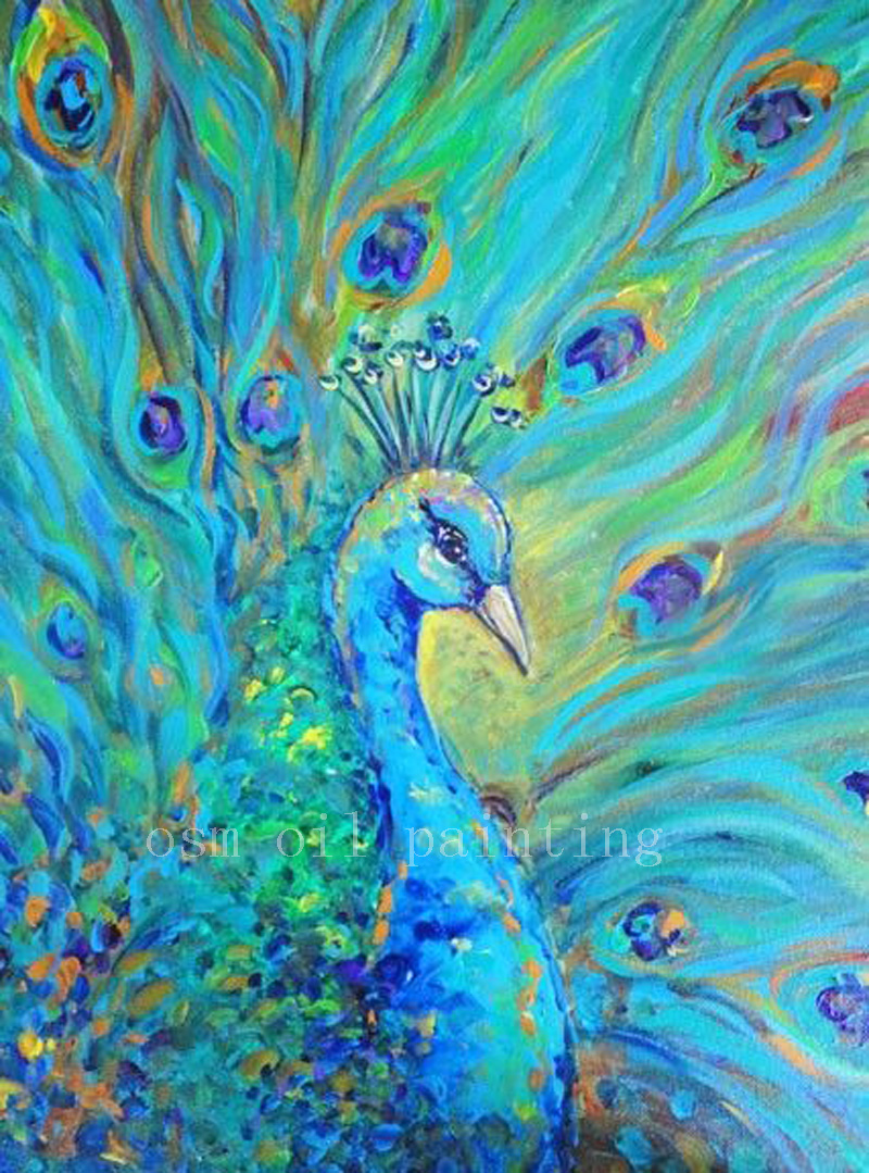 Online get cheap beautiful peacock paintings aliexpress for What paint for canvas