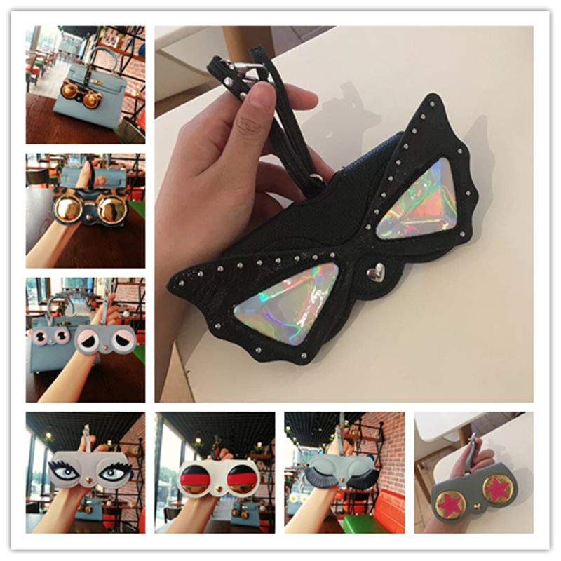 2019 New Fashion Animal PU Leather Cartoon Women Portable Case Sun Eye Glasses Box For Eyeglass Sunglasses Cute Protection Bag