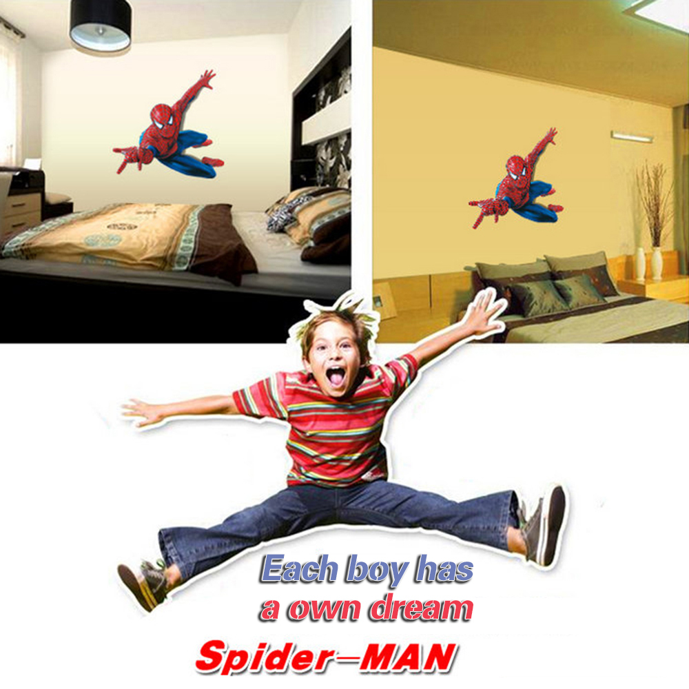 3d spiderman wall stickers for kids rooms 11090cm removable 3d spiderman wall stickers for kids rooms 11090cm removable superhero wall decals chrildren boys bedroom home decor in wall stickers from home garden on amipublicfo Gallery