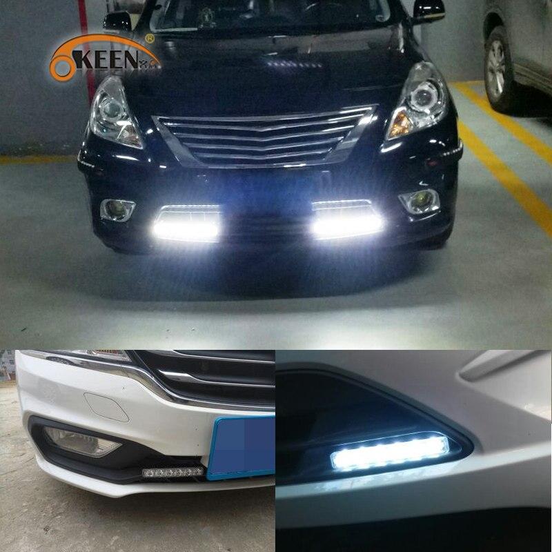 OKEEN 2шт 6000K белый светодиодные Универсальный DRL дневного света стайлинга автомобилей новый продукт 8ВТ бампера передние светодиодные фары