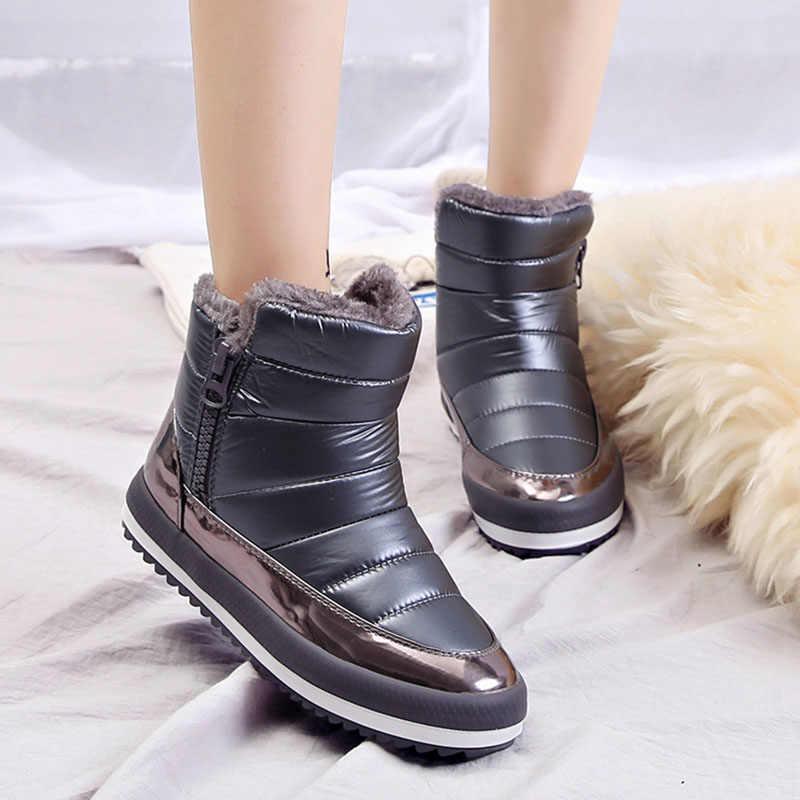 Vrouwen Laarzen Schoenen Vrouw Winter Schoenen 2018 Warm vrouwen Winter Laarzen Laarsjes snowboots Botas Waterdichte Zwart zapatos mujer