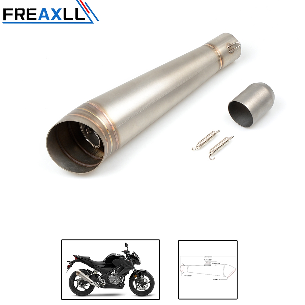 Universal 36-51MM Motorcycle Akrapovic Exhaust Pipe With Muffler Moto Bike Pot Escape For Yamaha Honda KTM Kawasaki Ducati