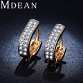 MDEAN Gold Plated Earrings for women CZ diamond AAA Engagement Earings   Classic  Brincos Bijoux Jewelry Free Shipping MSE017