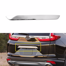 1Pcs Chrome Rear Tailgate Bazel Lid Cover Trim for 2017 2018 Honda CRV Accessories US Exterior