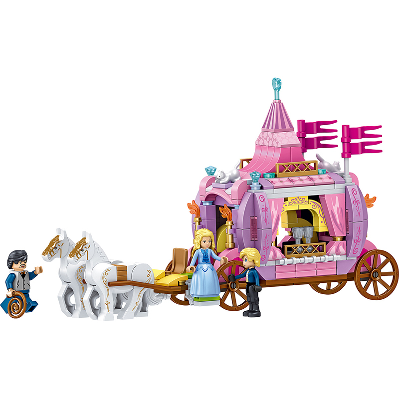 Image 4 - 731pcs Romantic Princess Castle Building Blocks Compatible With Legoed Girl Toys Gifts Kids Assembling Brick Friend Model Toys-in Blocks from Toys & Hobbies