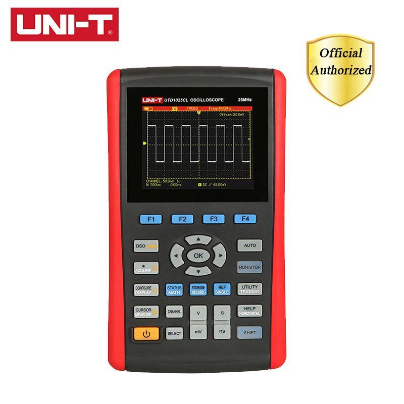UNI-T UTD1025CL Handheld Digital Storage Oscilloscope 3.5 Color LCD Mini USB Oscilloscopes 1CH 25MHZ Scope Meter