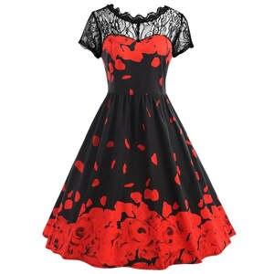 4b7a7dea349a top 10 most popular short sleeve flowers mini lace dress brands