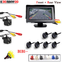 KOORINWOO Car Monitor Video System 800 480 Dual Core Reverse Radars 6 Alarm Car Parking Sensors