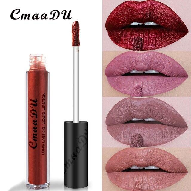 Lip Brand Matte Liquid Lipstick Nude Metallic Matte Lipstick Waterproof Lip Gloss Makeup Lipstick Liquid Matte Cosmetics