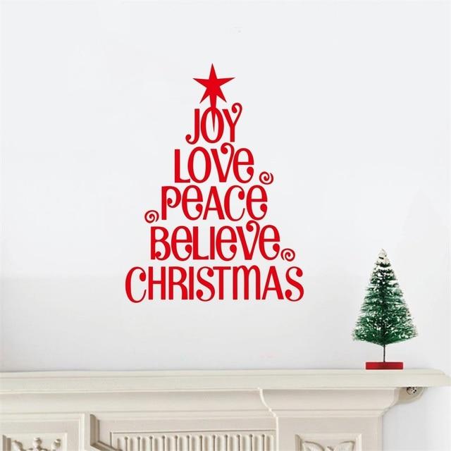 Weihnachtsbaum Freude Liebe .. Weihnachten Vinyl Worte Schriftzug ...