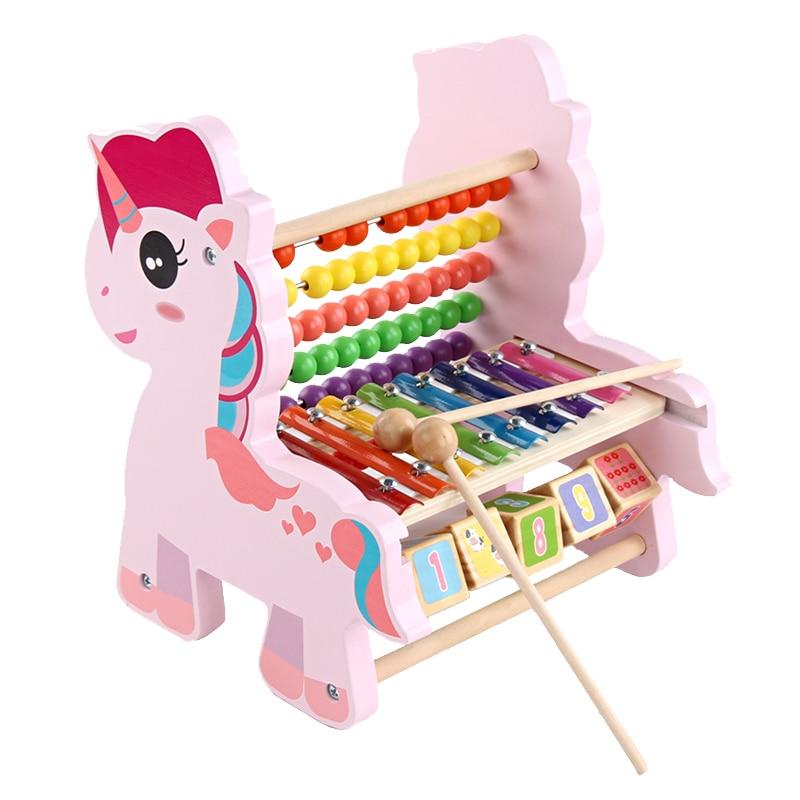 Date en bois licorne Abacus bébé mathématiques jouets arc-en-ciel perle classique Montessori mathématique en bois jouet drôle apprentissage début enfant cadeau