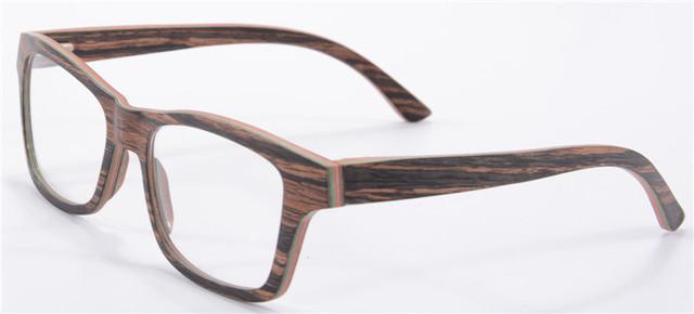 Marca de luxo Designer De Óculos Mulheres Frame Ótico de Madeira Armações de óculos Homens Miopia Óculos Oculos de grau 6167