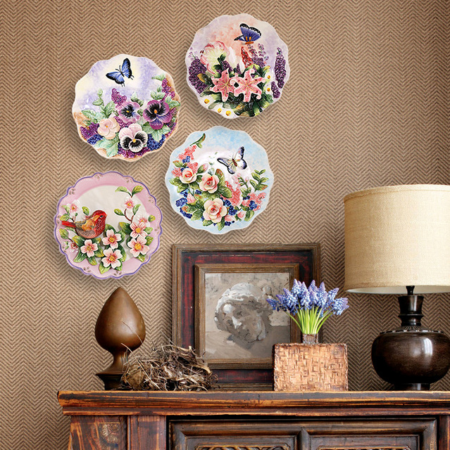 Parete decorata excellent apeape stampe pu creare - Decorare i muri di casa ...