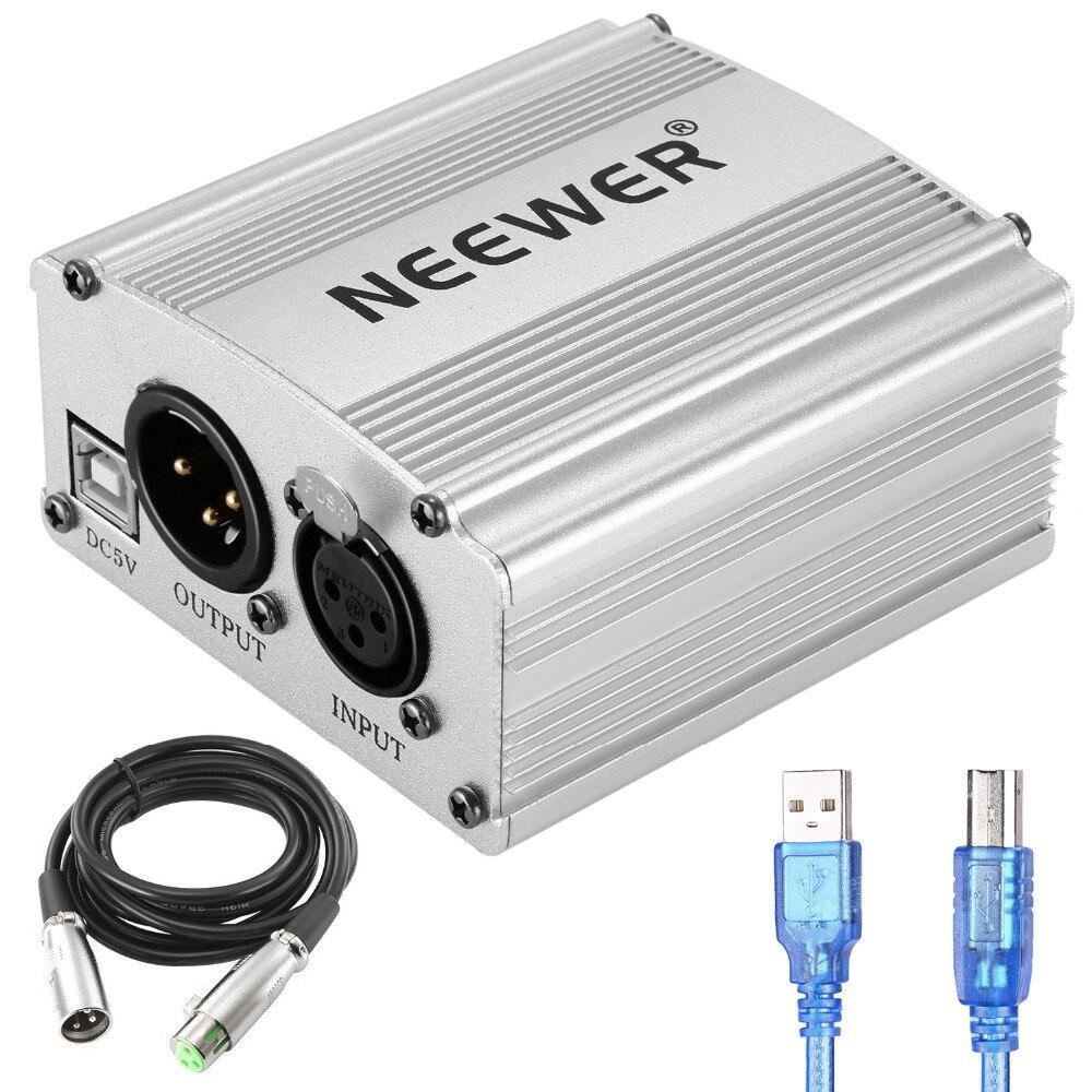 Neewer 1 Channel 48V USB Phantom Power Supply 5 feet USB font b Cable b font