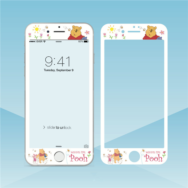 Mobile Phone Accessories Cellphones & Telecommunications Just Tempered Glass Screen Protector For Iphone 6s Plus 6 Plus 7 8 Plus Flower Cartoon Curved Edge Relief Full Cover Glass Film Sf34 Sale Price