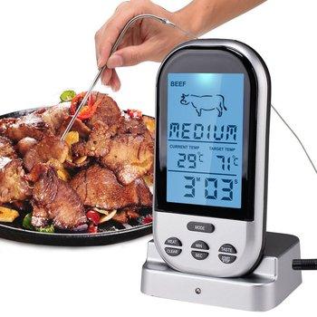 Termometrów do mięsa Bluetooth LCD sonda cyfrowa pilot bezprzewodowy Grill Grill termometr kuchenny narzędzia do gotowania w domu z zegarem alarmu tanie i dobre opinie K029 Termometry kuchenne Gospodarstw domowych termometry Z tworzywa sztucznego Cyfrowy