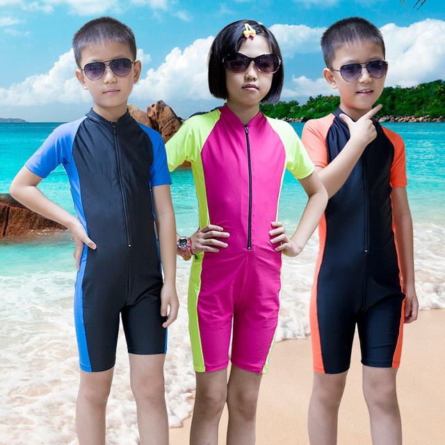 8c7413d4cf505 SBART Children s One-piece Sunscreen Diving Suits Surfing Clothessnorkeling Suits  Conjoined Swimming Suits